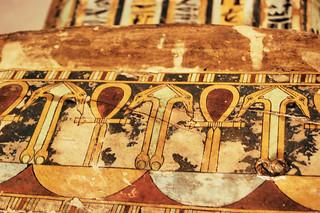 Close up from sarcophagus at Milwaukee Art Museum