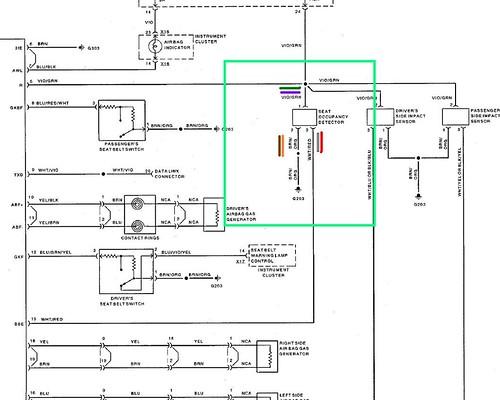 bmw e36 airbag wiring diagram