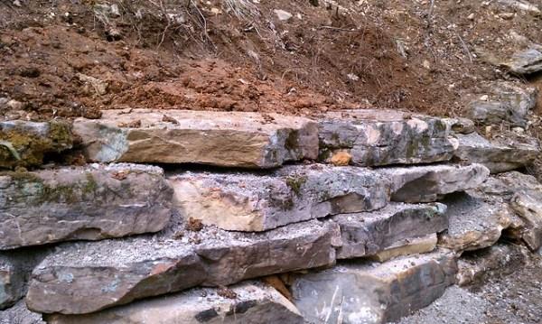 ledge rock retaining wall