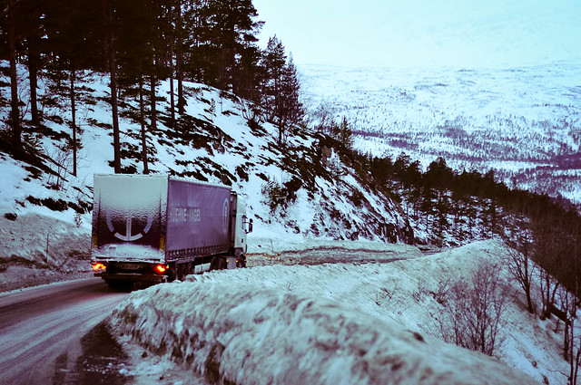 Narrow mountain roads and trucks