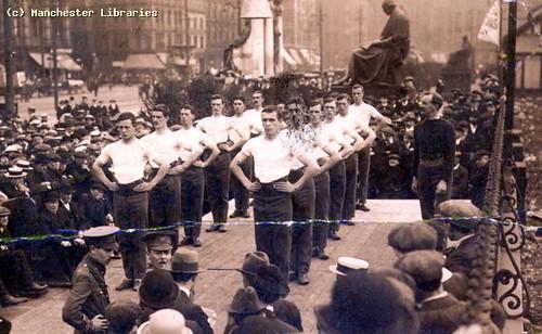 Piccadilly Gardens World War I
