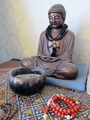 Buddha with beads