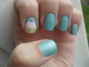 nail art - cupcake