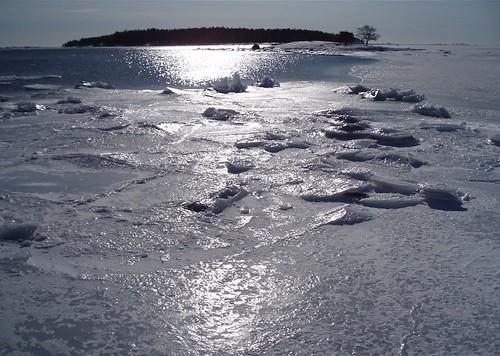 Open water by Helsinki shore