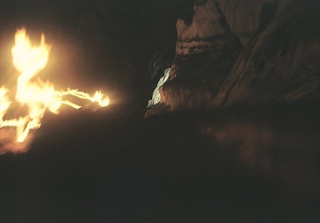 Villach - Eggerloch cave - torches