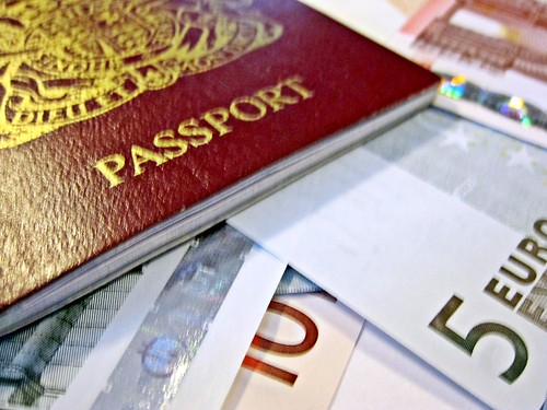 Passport and Euros  Holiday in Europe Like much of our