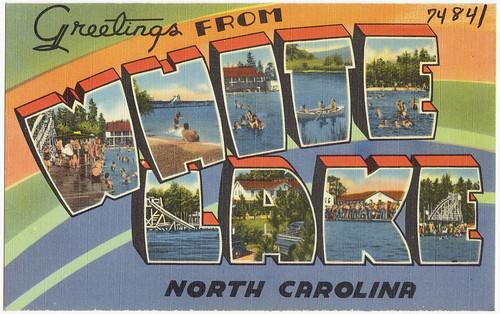 Greetings from White Lake, North Carolina