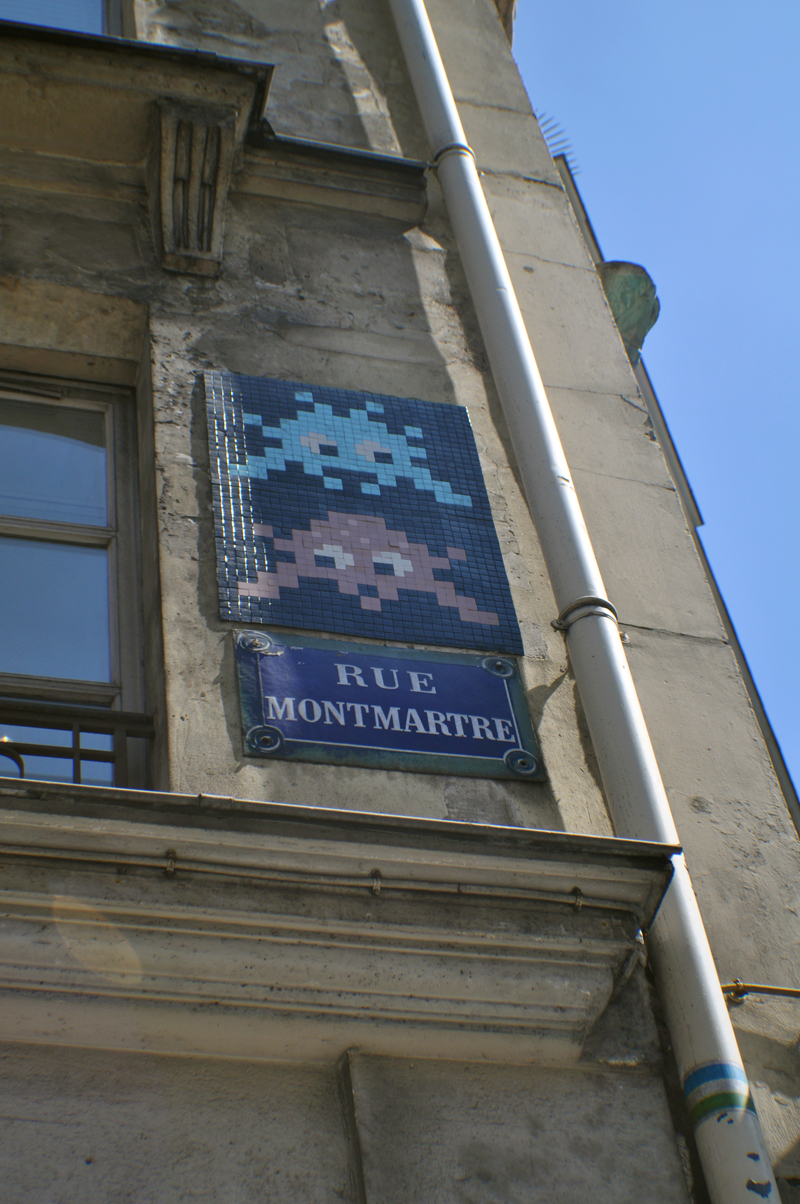 Space Invader X2 Rue Montmartre