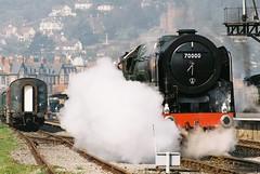 70000 'Britannia', Minehead on 25th March 2012