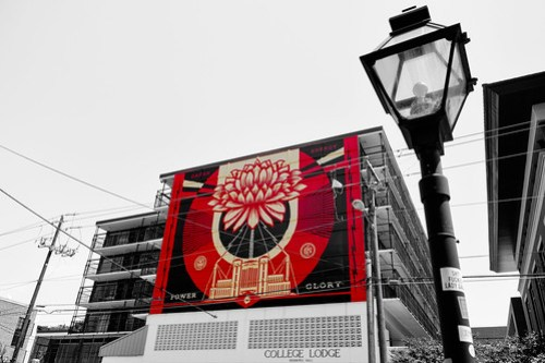 Shepard Fairey Mural in Charleston, SC