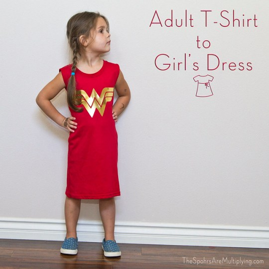 Adult T-Shirt to Girl's Dress