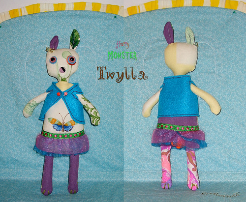 Happy Monster Easter Bunny: Twyla