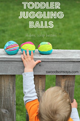 Toddler Juggling Balls - Fabric Scrap Buster - Swoodson Says