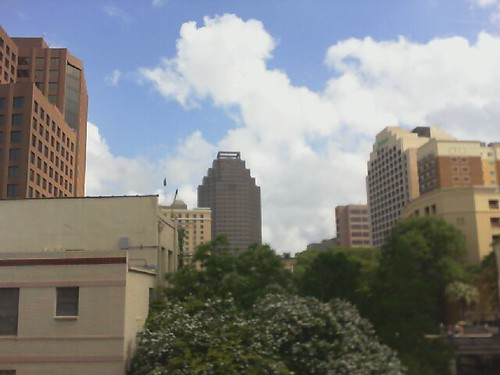 Wednesday morning webcam - clouds over the Riverwalk