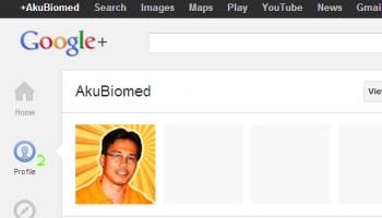 Dapatkan maklumat Google+ Profile ID
