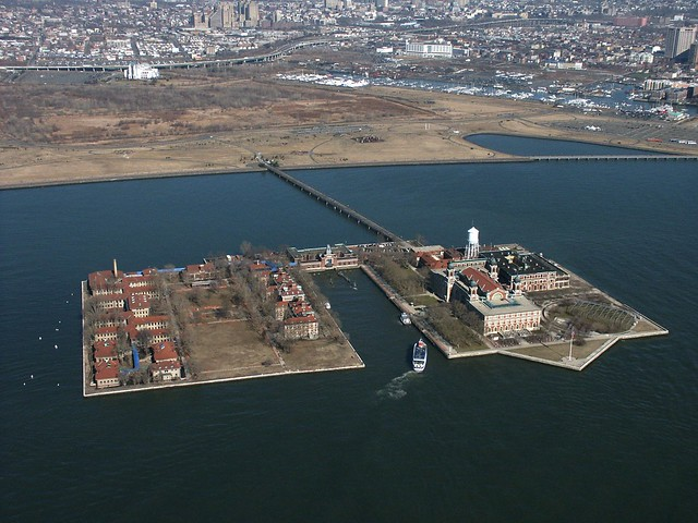 Bird's Eye View of Ellis Island