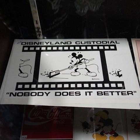 カストーディアルの看板。