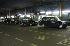 Taxi rank at Waverley station