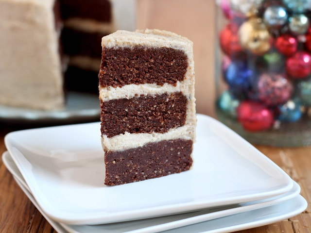 Chocolate and salted caramel cake (raw)