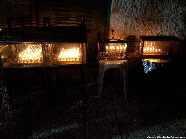 Candles Outside a Home