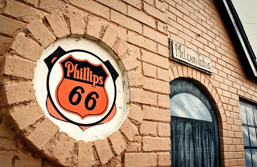 Restored Phillips 66 station in McLean, Texas, USA. Route 66. Copyright Jen Baker/Liberty Images; all rights reserved.