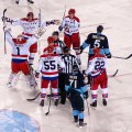 Capitals celebrate winter classic victory pittsburgh pa
