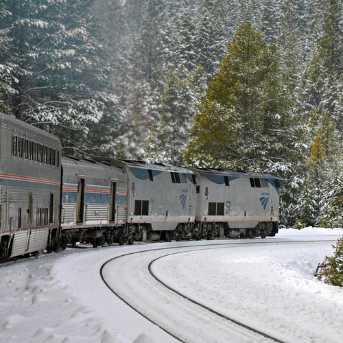 California Zephyr @ Stanford curve CA. ( 2 Views ) by Loco Steve