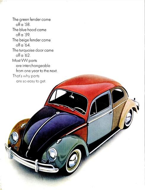 VW BEETLE AD LIFE MAG JUN 12, 1964