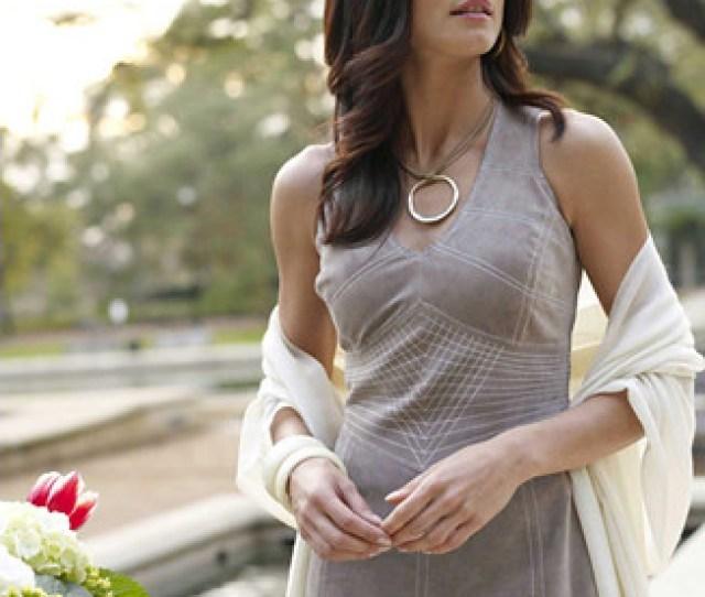 Suede Dress Gorgeous Brunette