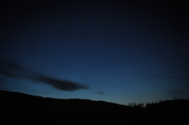 Norway winter skyline