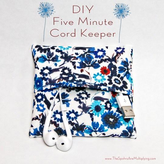 DIY Five Minute Cord Keeper