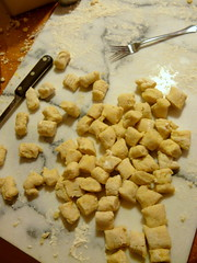 Homemade Gnocchi - Cutting and Shaping