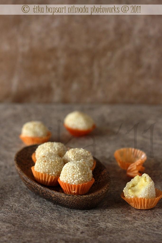 Resep Onde Onde : resep, Cooking, Chapter:, Onde-onde, Kacang, Hijau, Javanese, Style, Fried, Sesame, Balls