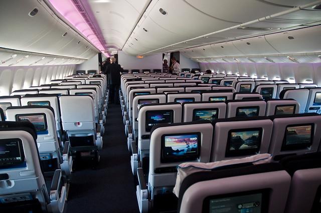 Air New Zealand's new 777-300ER interior -  Economy Cabin.