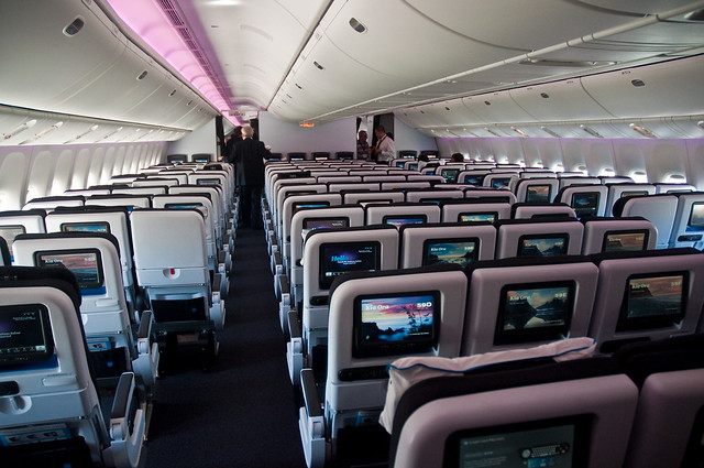Air New Zealand's new 777-300ER interior -  Economy Cabin.