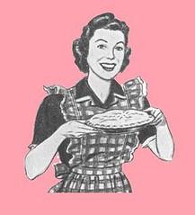 Woman holding pie