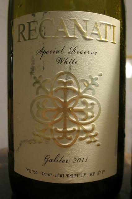 Recanati Special Reserve White 2011