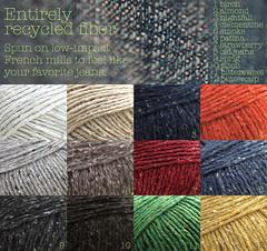Colorful Denim Fabric