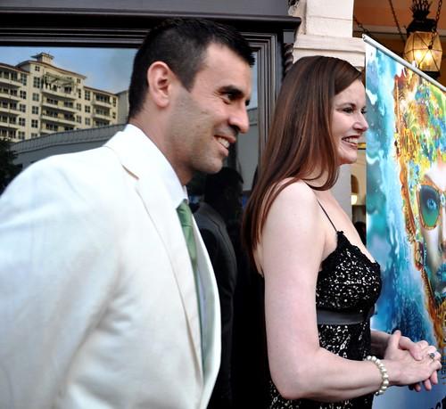 Academy Award Winning Actress Geena Davis and Husband Dr. Reza Jarrahy, Sarasota Film Festival, April 16, 2011