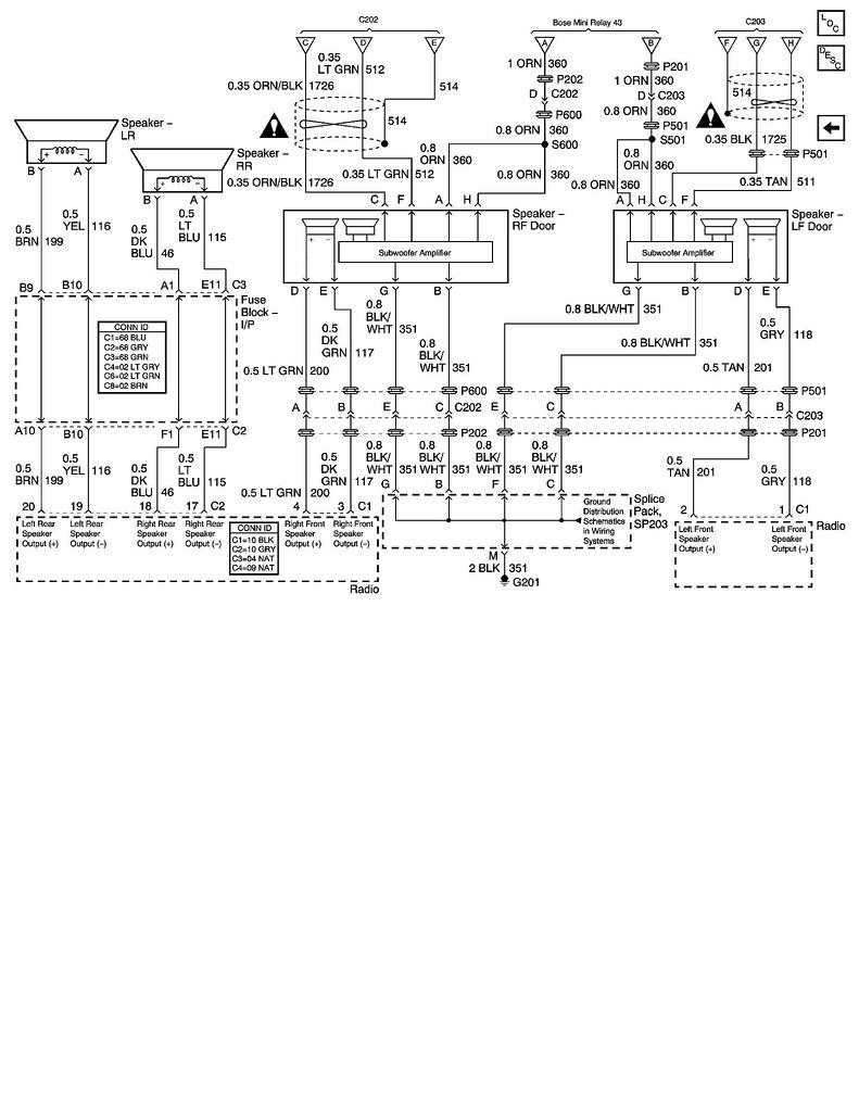 hight resolution of 04 coupe bose stereo speaker diagram corvetteforum bose 901 speaker wiring diagram bose 901 speaker wiring diagram