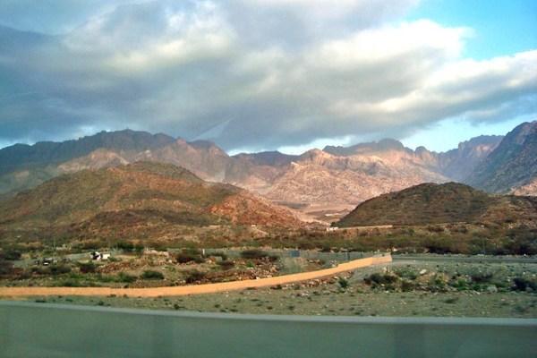 rocky landscape - saudi arabia
