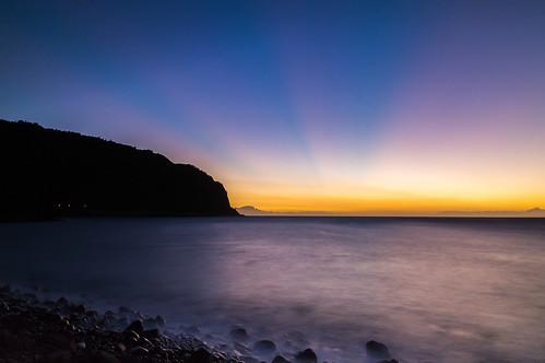 Sunset Barachois - Reunion Island