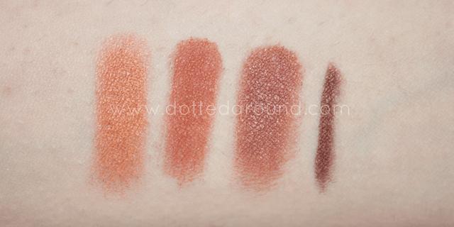 neve cosmetics desert swatches comparison