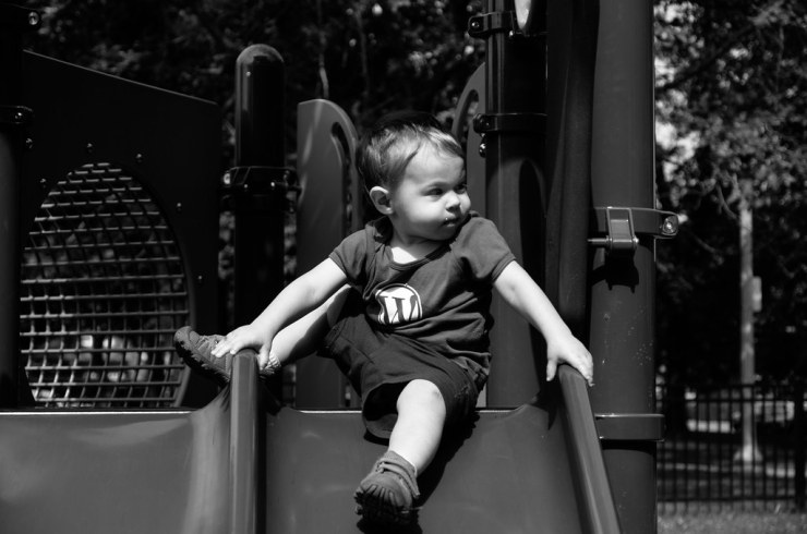 Micah on the Playground
