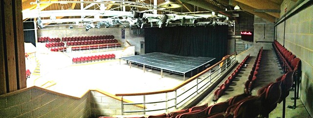 The @themarttheatre stage is up! #skiptonrocks