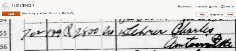 AC Census 1940 LEHRER