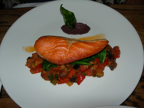 Salmon at Plum on Cuba Street