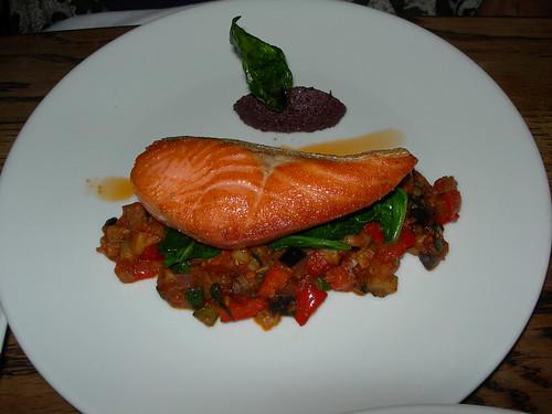 Salmon at Plum on Cuba Street