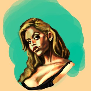 Speed Painting: Some Chick with Attitude
