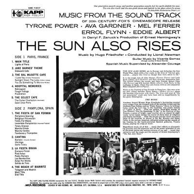 Hugo Friedhofer - Sun Also Rises b